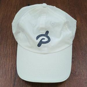 White peloton baseball cap hat